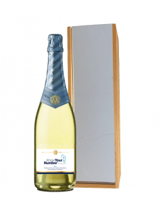 Non Alcoholic Organic 0% Alcohol Free Sparkling NV -  in Mirrored  Wooden Presentation Box