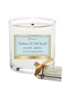Welcome to the World Baby Boy - Luxury Scented Personalised Candle