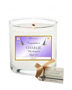 """Congratulations"" Luxury Scented Personalised Candle -  Create Your Own Label"