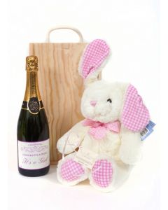 personalised-baby-gift-champagne-and-bunny