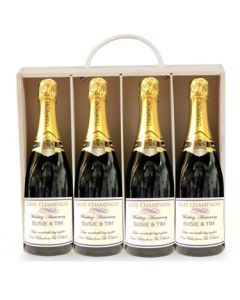 personalised-champagne-gift-set-4-bottles-in-wooden-box
