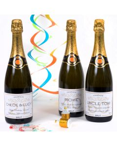 Personalised Birthday Champagne - all ages
