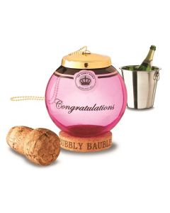 Keep The Cork Bubbly Bauble - Champagne Cork Keepsake - Pink