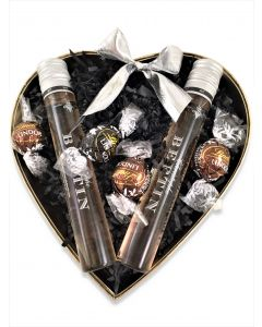Two Ratafia Champagne in Heart Box
