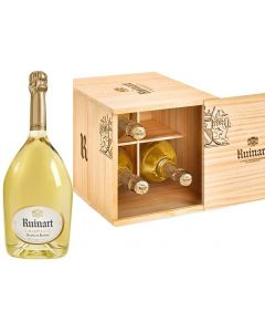Ruinart Blanc de Blancs Cellar Case - 4 Bottles in Wooden Case