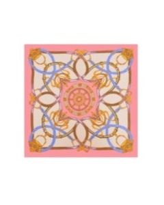 Luxury-Peach-Pink-Pattern-scarf