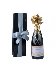 """Dazzling"" Classique Gift Set -  Personalised Champagne with Crystal Gems"