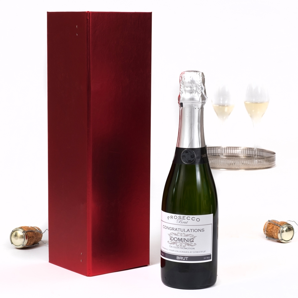 Half Bottle Of Personalised Prosecco In Presentation Box