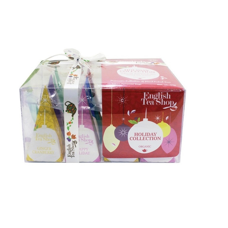 Pyramid Tea Collection - Red Baubles Gift Box