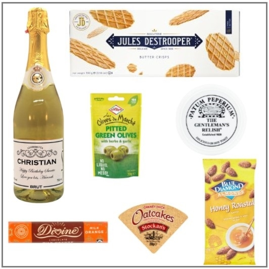 """""""Fancy A Nibble""""  - Personalised Non Alcoholic Food Hamper - Build..."""