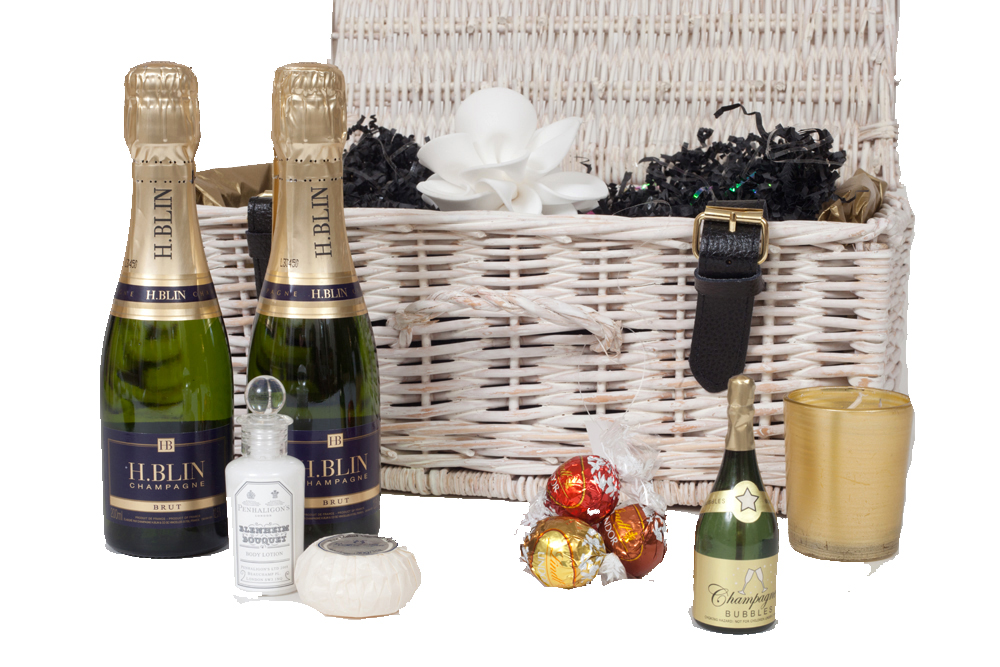 """""""My Moment To Relax""""  - Mini Champagne Hamper - Candles, Bath..."""