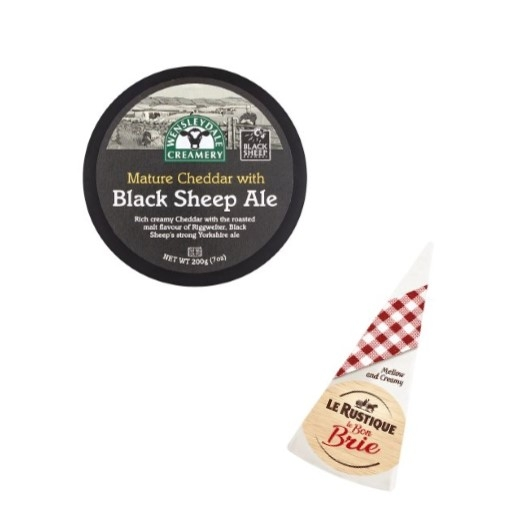 Black Sheep Ale & Brie Cheese Selection