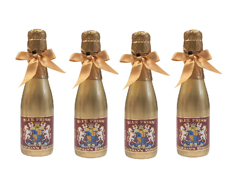 4 Bottles Of Gold Miniature Personalised Prosecco