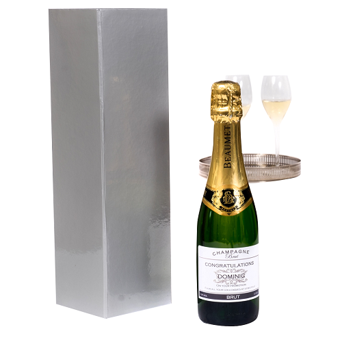 Half Bottle Of Personalised Champagne In Presentation Box