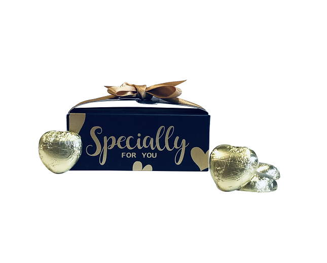"""Specially For You"" Chocolate Hearts - Blue"