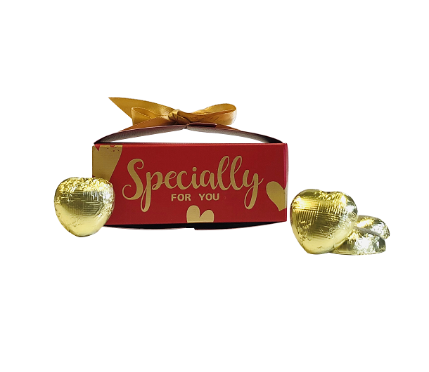 """""""Specially For You"""" Chocolate Hearts - Red"""