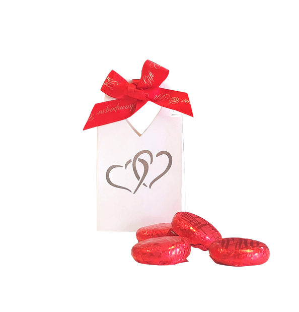 """Strawberry Treat"" Chocolates In Cute  Giftbox"