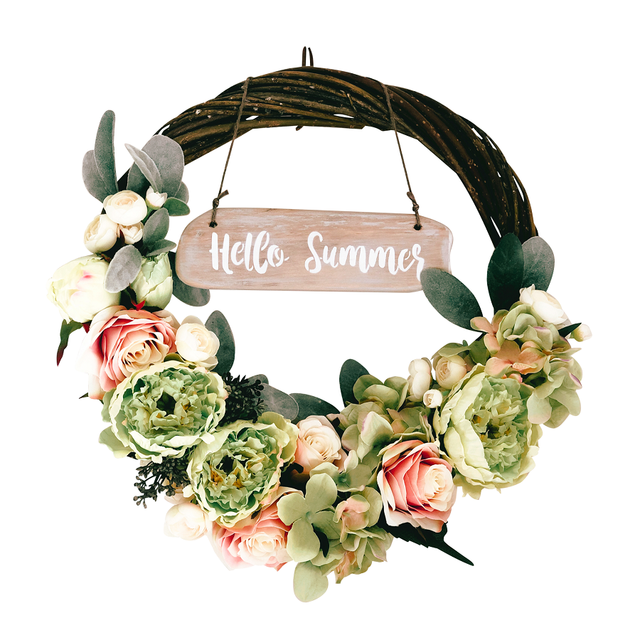"""A Little Bit Of Floral Loveliness""  Twisted Willow Wreath -..."