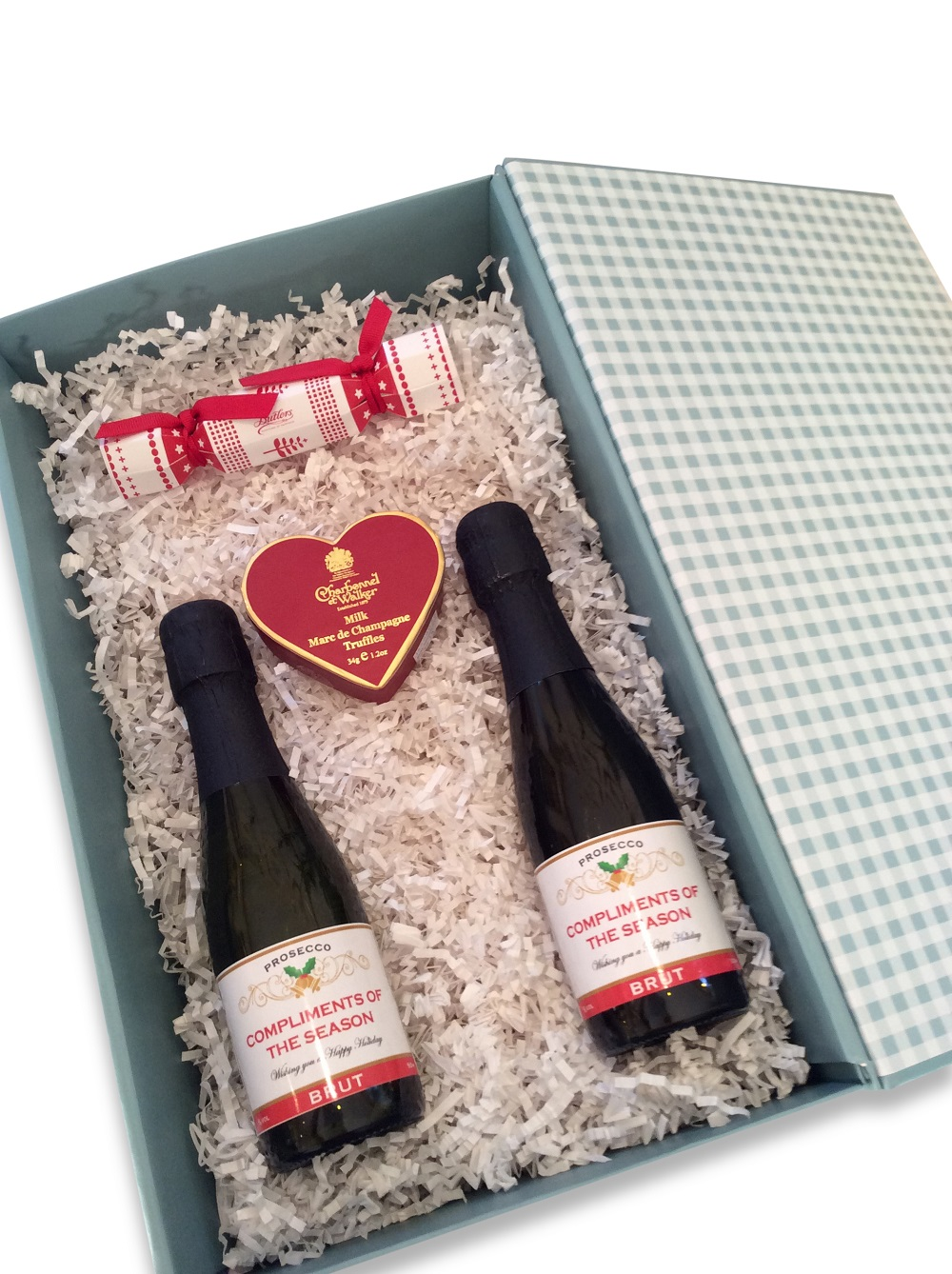 Ho Ho Ho - Mini Personalised Prosecco & Chocolate Gift Box