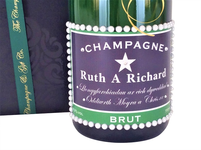 Personalised Champagne With Pearls - Dash Of Elegance