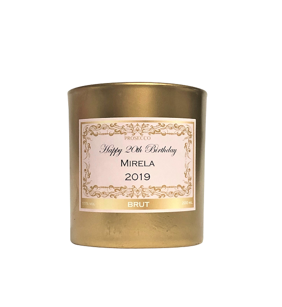 Gold Personalised Scented Candle - Choose And Create Your Own Label