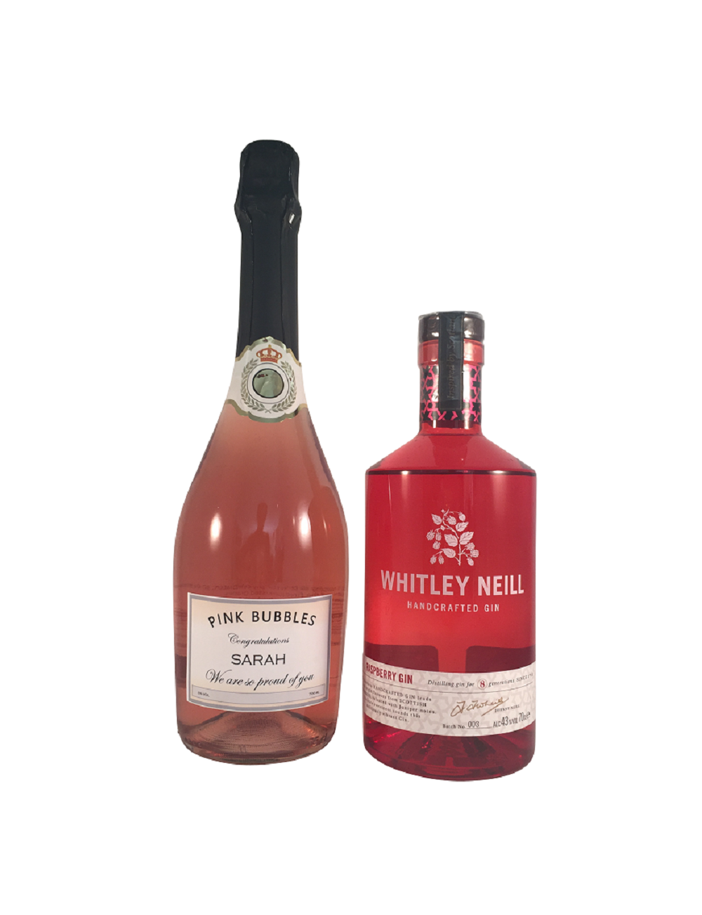 Rosé Sparkling Wine And Raspberry Gin