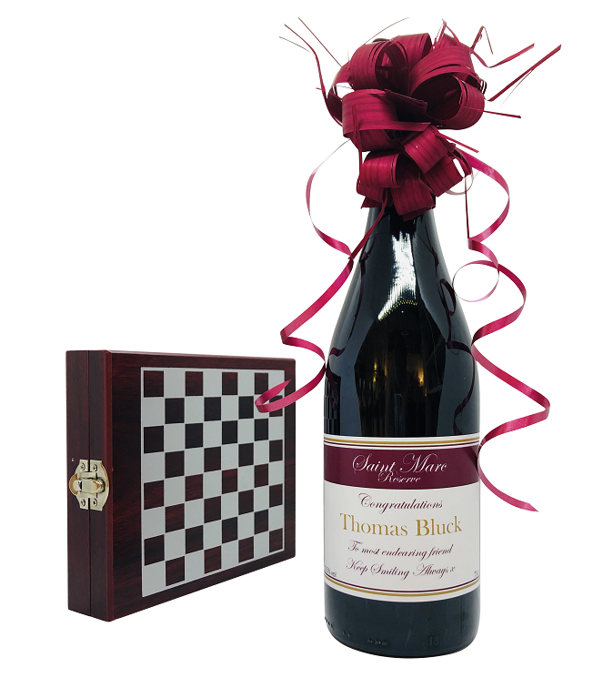 """And The Winner Is ... ""  Personalised Red Wine Gift Set -  Wine..."
