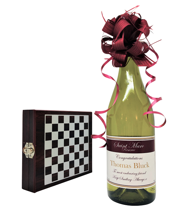 """And The Winner Is ... ""  Personalised White Wine Gift Set -  Wine..."