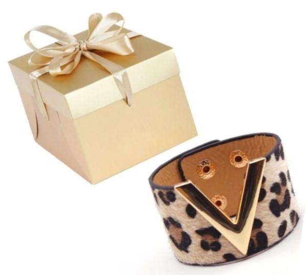 """""""V"""" Safari Wide Cuff Bracelet"""