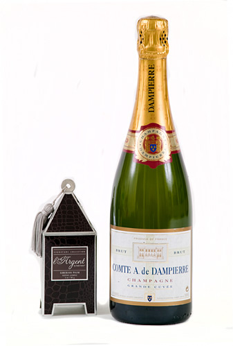 Comte Audoin De Dampierre Champagne With A L'Argent Scented Candle