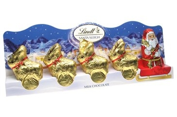 Lindt Milk Chocolate - Miniature Santa Sleigh