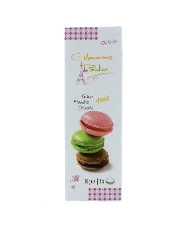 Macarons De Pauline Gift Box - Strawberry, Pistachio And Chocolate