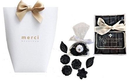 Deliciously Delightful Dark  Duo Of Chocolate Batons And Flowers -...