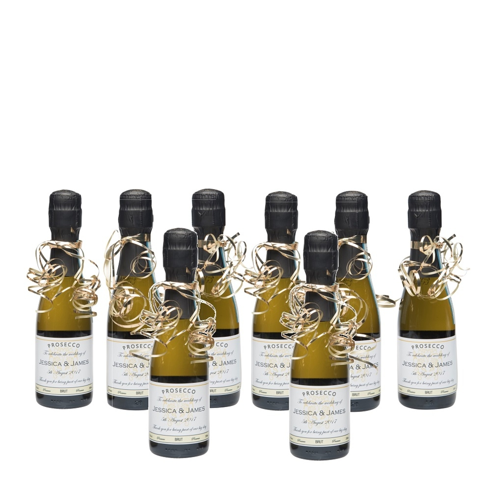 8 Bottles Of Miniature Personalised Prosecco