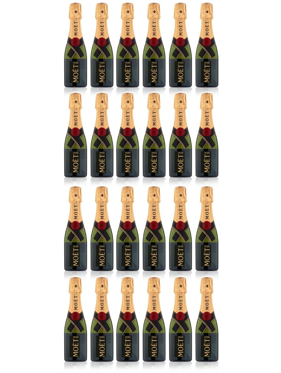 24 X Miniature Moet & Chandon Champagne - Personalised Labels...
