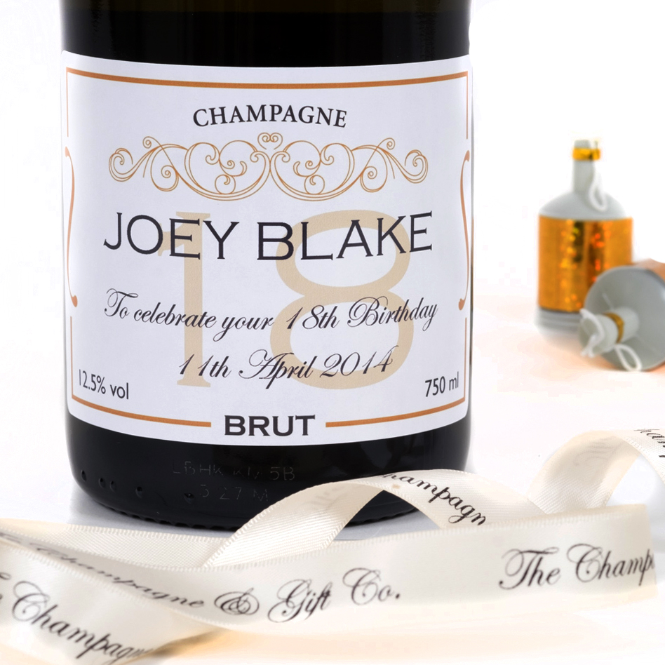 Personalised 18th Birthday Champagne
