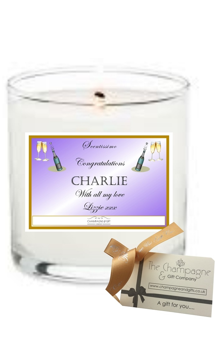 """Congratulations"" Luxury Scented Personalised Candle -  Create..."