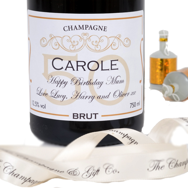 Personalised 50th Birthday Champagne