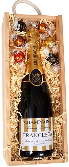 Deluxe Personalised Champagne & Luxury Chocolate Gift