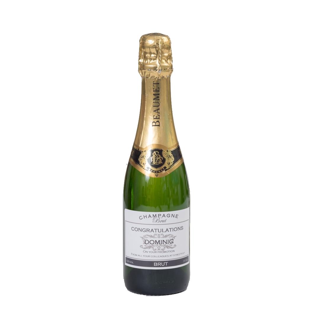 Personalised Champagne Half Bottle - Signature Grande Reserve