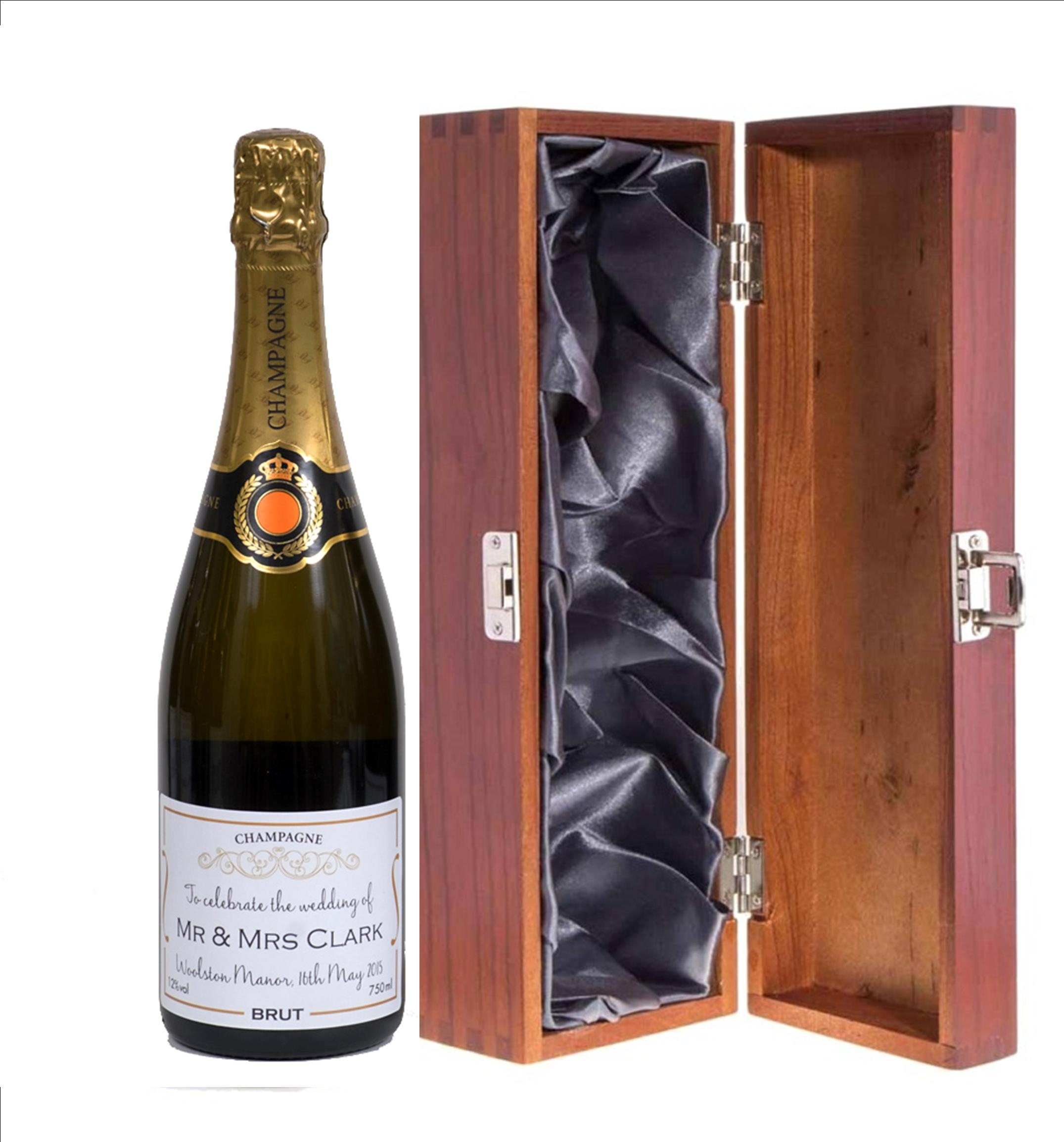 """Personalised Wedding Champagne Gift - In The """"Cambridge""""..."""