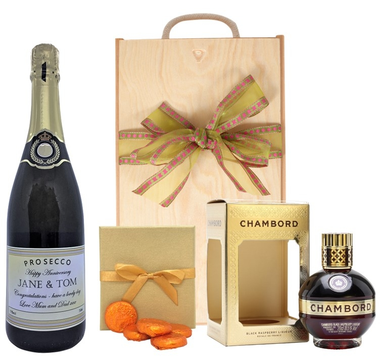 Personalised Prosecco With Chambord - And Luxury Chocolates In...