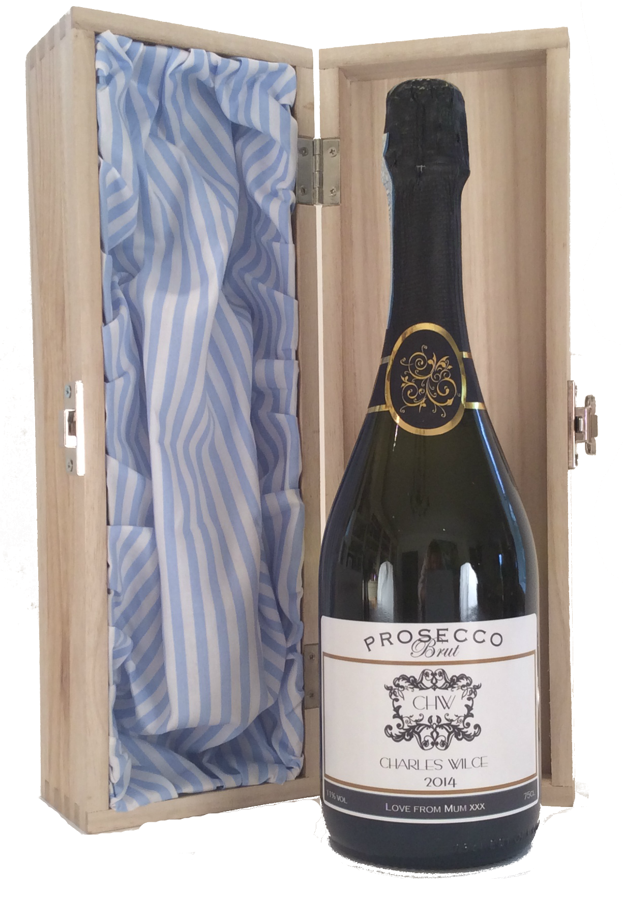The Hamptons - Personalised Prosecco Gift Set