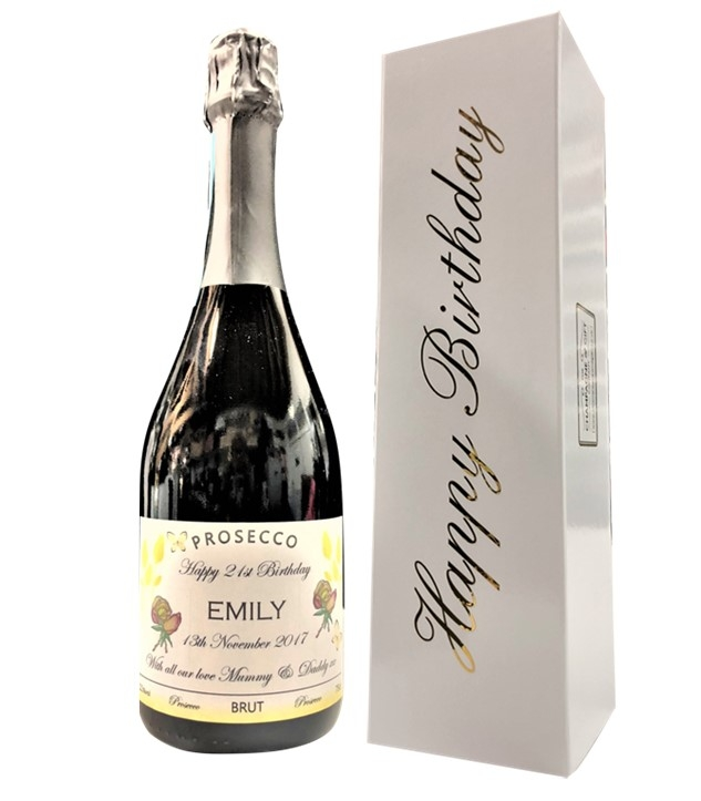 Personalised Prosecco In Happy Birthday Presentation Box