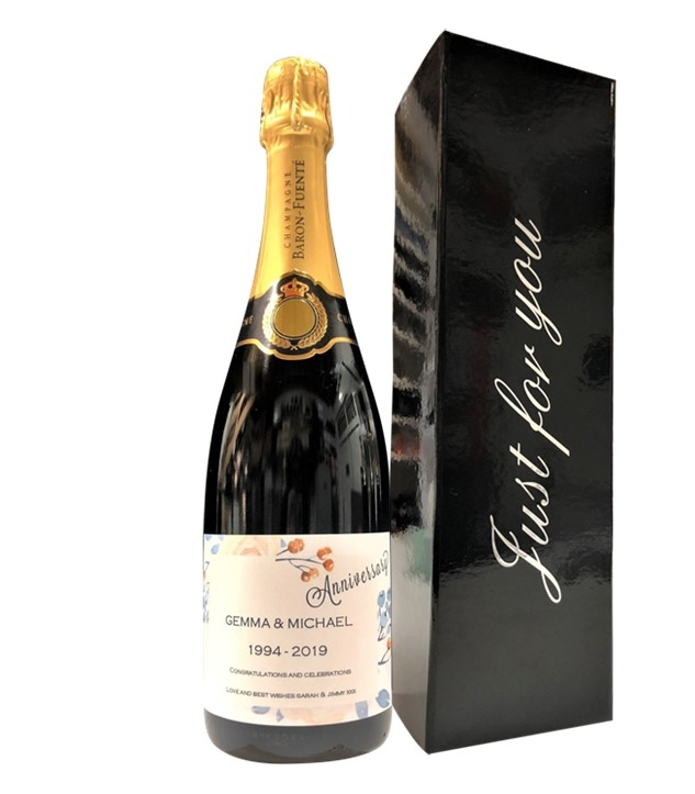 "Personalised Prosecco For Anniversary - In ""Just For You""..."