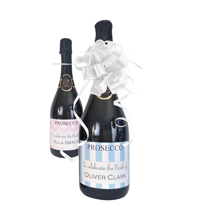 Personalised Prosecco For New Baby Celebration -  Lovely Choice Of...