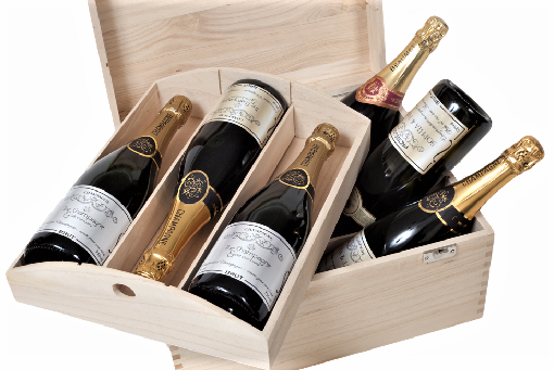 Personalised Wedding Champagne Gift - 6 Bottles In Deluxe Trunk