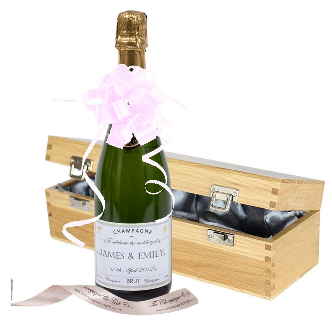 "Wedding Champagne In ""Oxford"" Presentation Box"