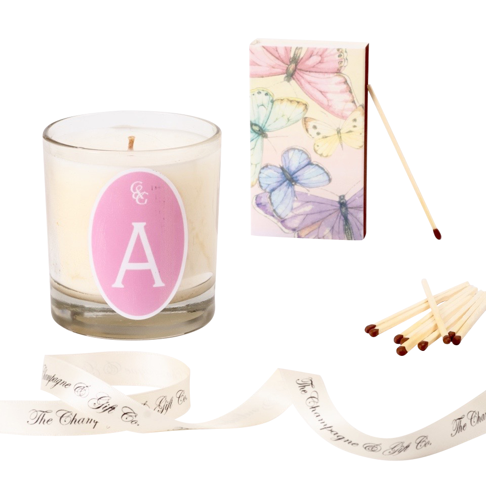 Scented Candle & Matchbox Set - Carnation Pink - Choose Your...