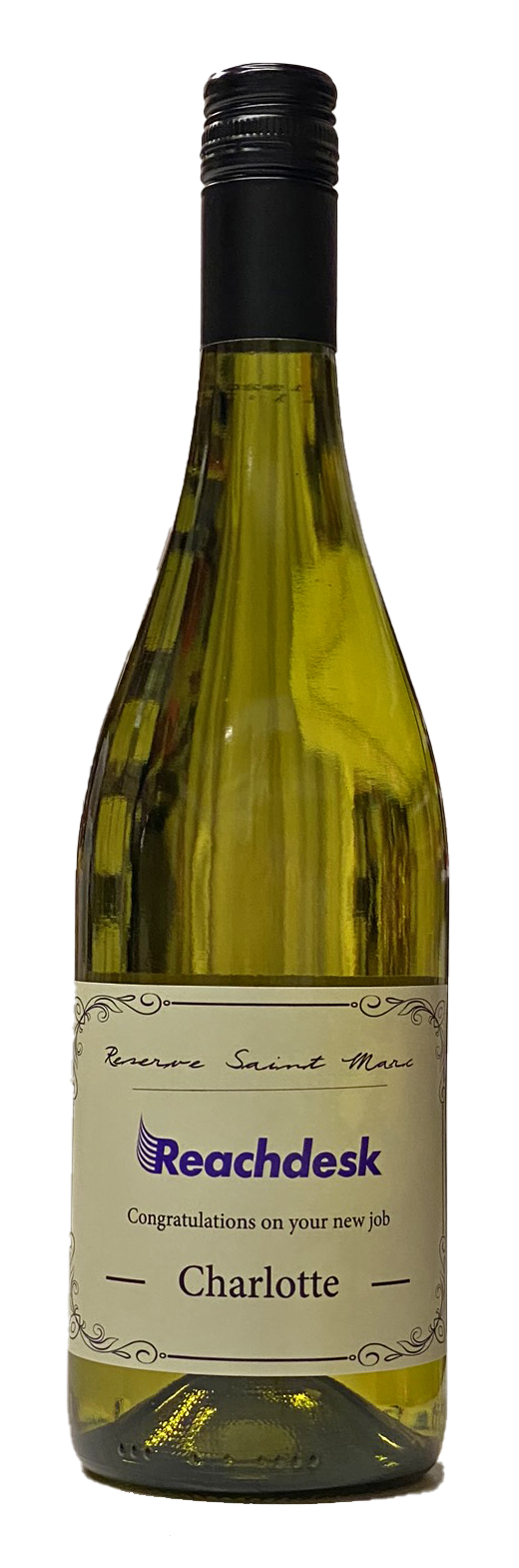 Corporate Branded White Wine Bottle - Languedoc, Southern France